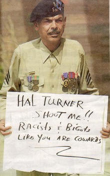 Purple Heart Veteran Jaime Vazquez denounces Hal Turner